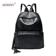 New Travel Backpack Korean Women Solid Backpack Leisure Student Schoolbag For Girl PU Leather Women Shoulder Bag Satchel Mochila