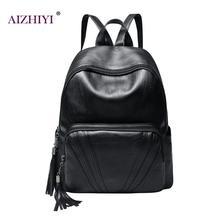 New Travel Backpack Korean Women Solid Backpack Leisure Student Schoolbag For Girl PU Leather Women Shoulder Bag Satchel Mochila