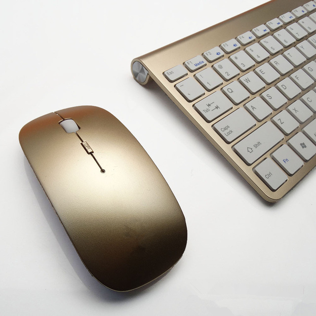 High quality Ultra Thin Wireless keyboard mouse 2.4G keyboard Mouse combo  and 2.4G USB Receiver for Mac PC Laptop Tv BOX