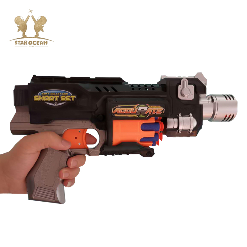 Kids Toy Sniper Rifle Submachine Gun Airsoft air Paintball Soft Bullets Suit for Gun Toy for