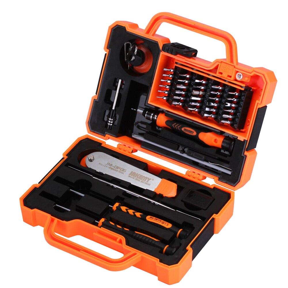 JAKEMY 45 en 1 juegos de Herramientas profesionales destornillador multibits para Herramientas de reparación de teléfonos móviles por ordenador
