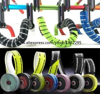 цена на 1 set Fouriers Road Bike Handlebar Tape Belt Bicycle Cycling Handle Cork Waterproof Handlebar Tape Wrap