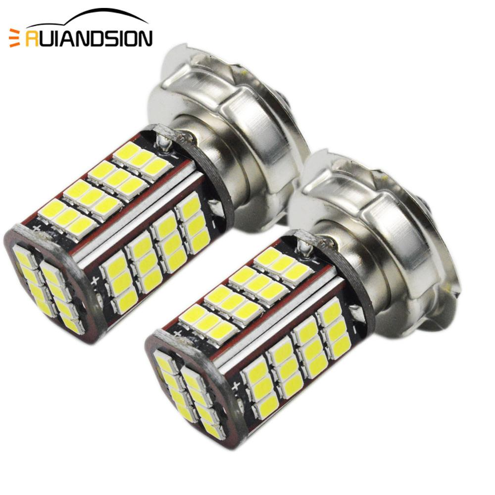 2pcs Motorcycle 6v 56smd 3030 P26S Moto Scooter LED Headlight Fit Most Motorbike LED Lamps Conversion Kit Bulbs 2.7W 960LM 6000K