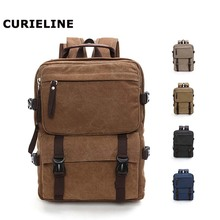 2019 new design canvas school backpack vintage leisure personalised