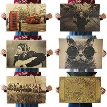 Dlkklb фильм Ретро плакат Украшение Винтаж аниме плакаты принты гостиная декоративная живопись ядро крафт-бумага наклейки на стену