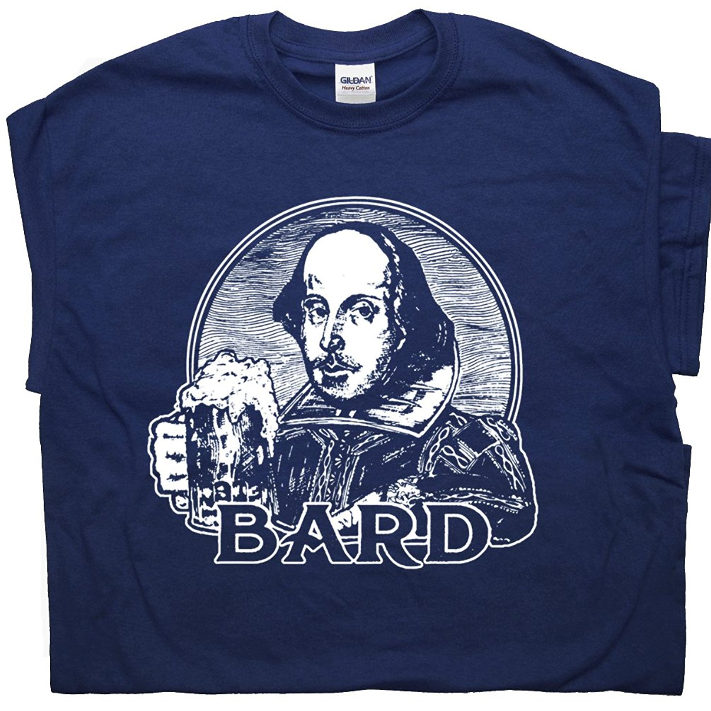 b40714b2 Funny T Shirt Men William Shakespeare Bard T Shirt Beer Bar Poet Poetry  Book Literary Literature Writer Tee Shirtmandude-in T-Shirts from Men's  Clothing on ...