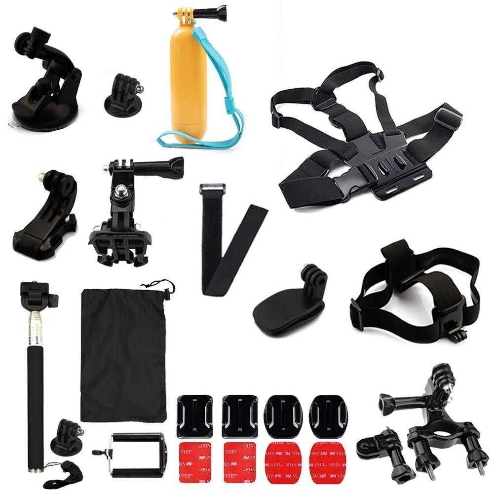 24 In1 Professional Basic Accessories Combo Kits for GoPro Hero 7/6/5/4/3/3+/2/1 Sports Camera