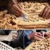 Professional 12Pcs Set Manual Wood Carving Hand Chisel Tool Set Carpenters Woodworking Carving Chisel DIY Detailed