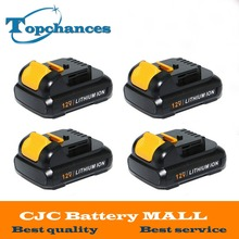 4PCS High Quality power tool Battery For Dewalt 12V 2.0Ah 2000mah MAX Li-ion DCB120 DCD710 DCF813 DCF815 DCF610