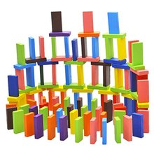Pack of 120 Mix Wooden Kids Children Domino Game Play Toys