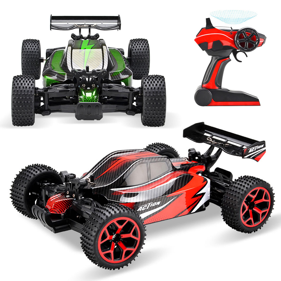 цена на RC Cars Rock Off-Road Vehicle 2.4Ghz 4WD High Speed 1:18 Remote Control Racing Cars Fast Race Buggy VS WL TOYS A959 RC Car