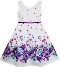 Filles Robe Princesse Élégante Fleur dans Vent 2016 D'été Robes De Soirée De Mariage Fille Vêtements Taille 4-12 Pageant robe d'été