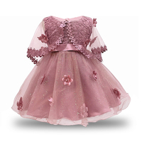 Baby Girl Dress 2018 Vintage Party Dresses for Girls 1st Year Birthday Party Princess dress 0 6yrs Baby Clothing Costume