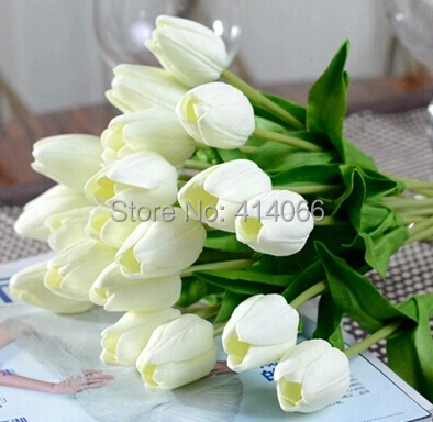 24pcs Lot Pu Tulip Artificial Flowers Wedding Home Decorative Flowers Home Decoration Flower 6 Color
