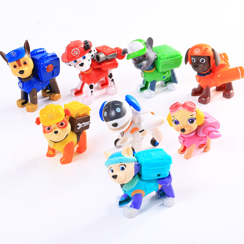 Canine Puppy Paw Patrol Dog Action Figures Car Toys Russian Anime Ryder Chase Dog PVC Model Canina Juguetes Educational Toys 3d светильник paw patrol chase