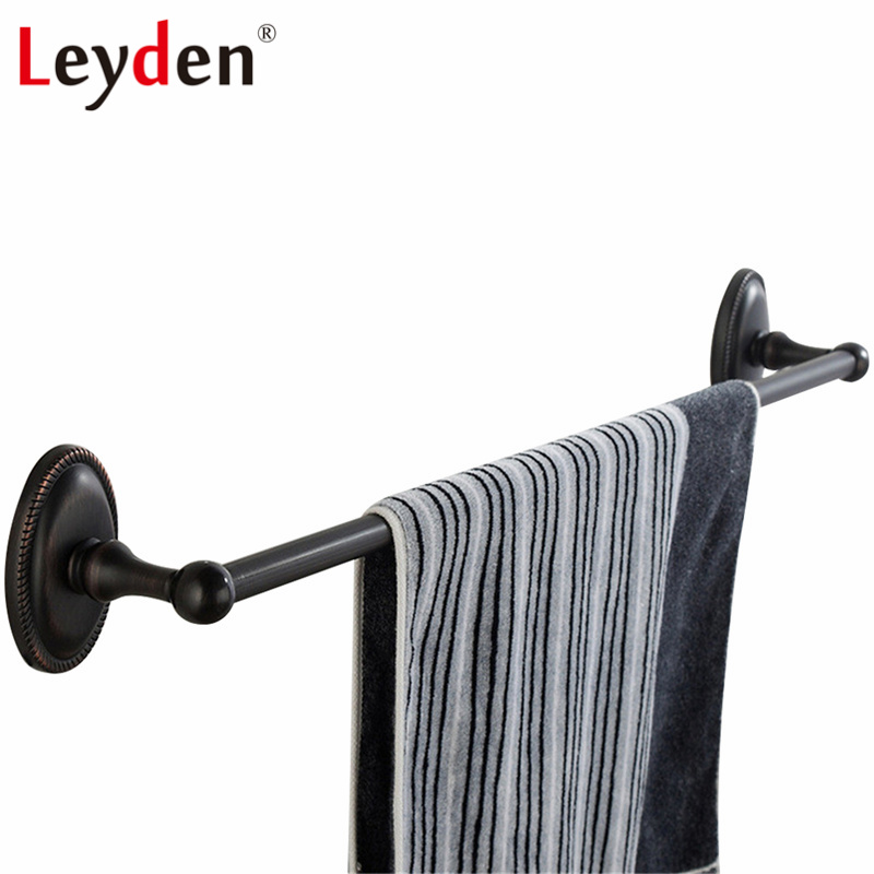 Leyden Removable Single Towel Rail Wall Mounted Towel Bar Brass ORB Classical Oil Rubbed Bronze Towel Rack Bathroom Accessory allen bradley 1763 l16dwd new and original factory sealed have in stock