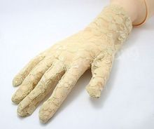 lady Sexy Wrist Lace gloves stretch party dress glove BLACK WHITE