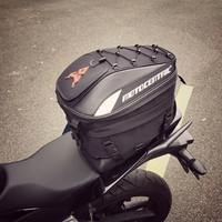MC Motorcycle backpack carbon fiber Motorbike Tail Bag Back Seat Luggage Bags Saddlebag Motorcycle Riding Travel Luggage Handbag
