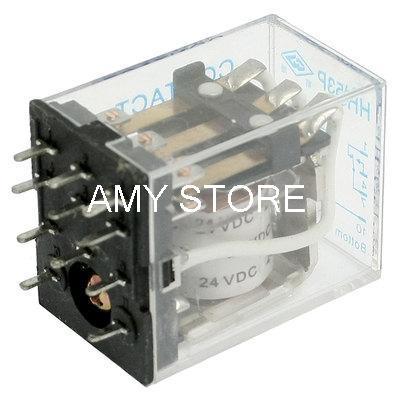 HH53PA MY3NJA 5A 12VDC/24VDC/24VAC/110VAC/220VAC Coil PCB Welding Electromagnetic Relay 3PDT 11 Pin jqx 10f 3z dc 24v coil pcb electromagnetic relay 3pdt 11 pin free shipping