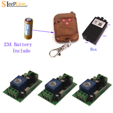 Sleeplion 3 Way 12V 10A Toggle Switch With Remote Control 433MHz/315MHz Relay Module Board Transmitter