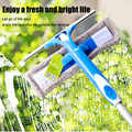 Window Glass Cleaner Washer Upgraded Telescopic High-Rise Brush Window Cleaner with Spray Head -Drop