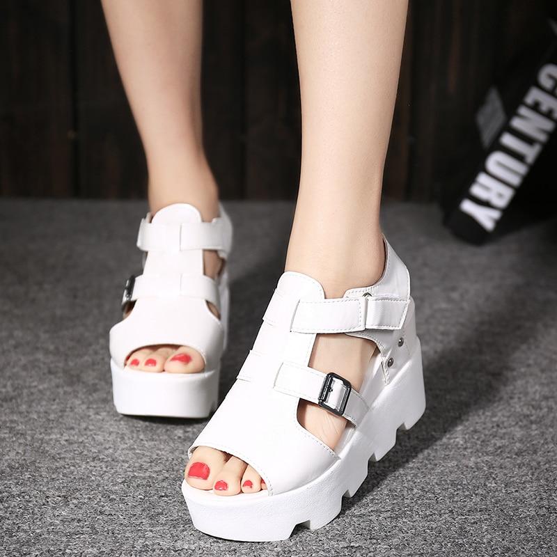 Shoes Women Summer Sandals Platform Gladiator Open-Toe High-Heel Hee Grand Casual XWZ5979