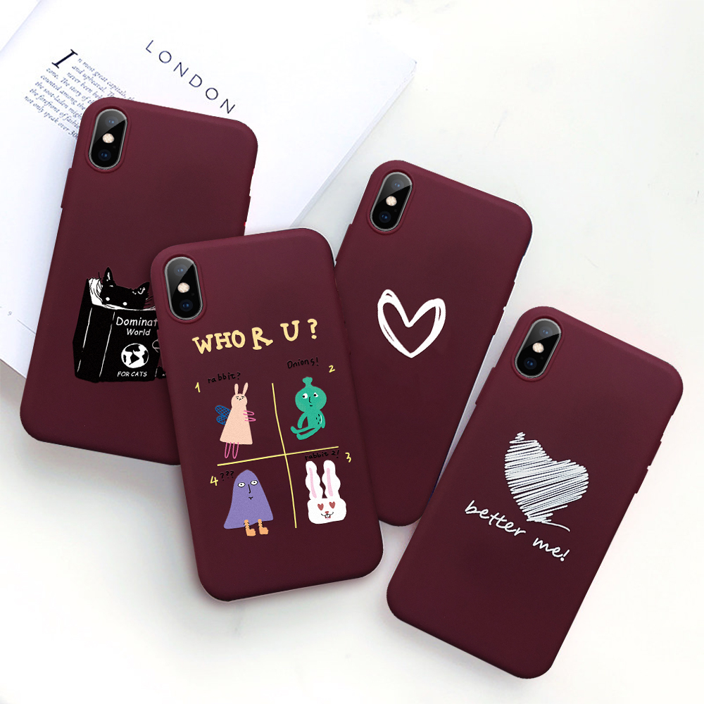 Lovely Couple Heart <font><b>Case</b></font> For Huawei P Smart 2019 P30 Mate 20 Lite Pro Soft Silicone Cover For Huawei <font><b>Honor</b></font> 10 9 Lite <font><b>8X</b></font> 10i <font><b>Case</b></font> image