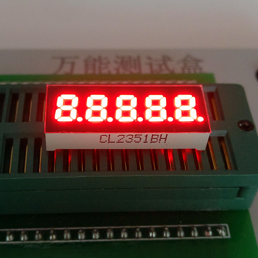 10pcs Common Cathode/Anode 0.23 inch digital tube 5 bits digital tube led display Red/Ye ...