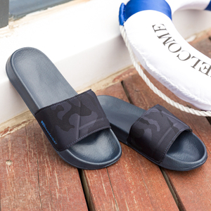 Image 3 - 브랜드 품질 슬리퍼 남자 욕실 신발 플랫 플립 퍼 빛 야외 비치 샌들 신발 큰 크기 50 어두운 위장 표면