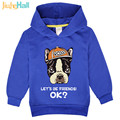 Jiuhehall free shipping 2017 new baby boy girl bulldog sweatshirts spring kids long sleeve hoodies 4 colors children tops FCM139