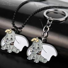 Hot Cartoon Anime Dumbo Cute Elephant Handmade Pendant Keychain Keyring Little Fly Cosplay Collection Fans Gift