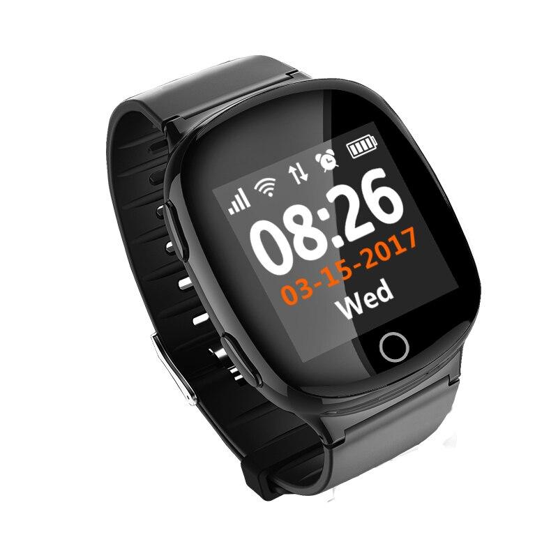 D100 Elderly Smart Watch GPS LBS WIFI Positioning Anti lost Heart Rate Sports Tracker Fall Alarm
