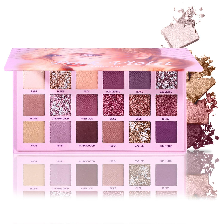 kit 18 cores matte shimmer glitter sombra
