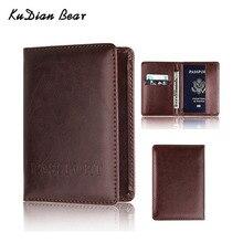 KUDIAN BEAR Passport Cover Women Rfid Holder Designer Travel Case Credit Card -- BIH023  PM49