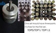 Manual de mano de prensa de la tableta/pastilla de prensa herramienta con TDP0/1.5 compatible del dado