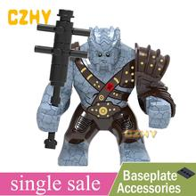 End game Figures Thor's friend Korg Thanos Hulk Chitauri Cap Marvel Pop Avengers 4 Building Blocks Toy for Children XH1050(China)