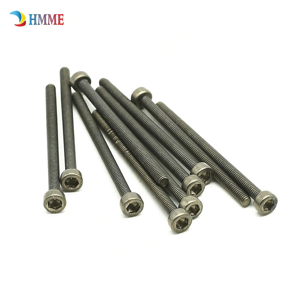 10pcs M4x 10//20mm Titanium cylindrical head hexagonal screw