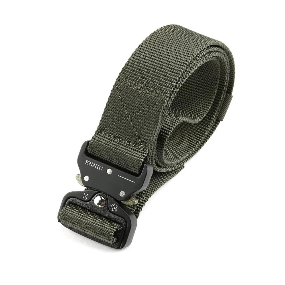 ENNIU Authorized 100% Real Military Tactical   Belt   High-quality Powerful Nylon   Belt   Adjustable Multifunction Men's Training   Belts