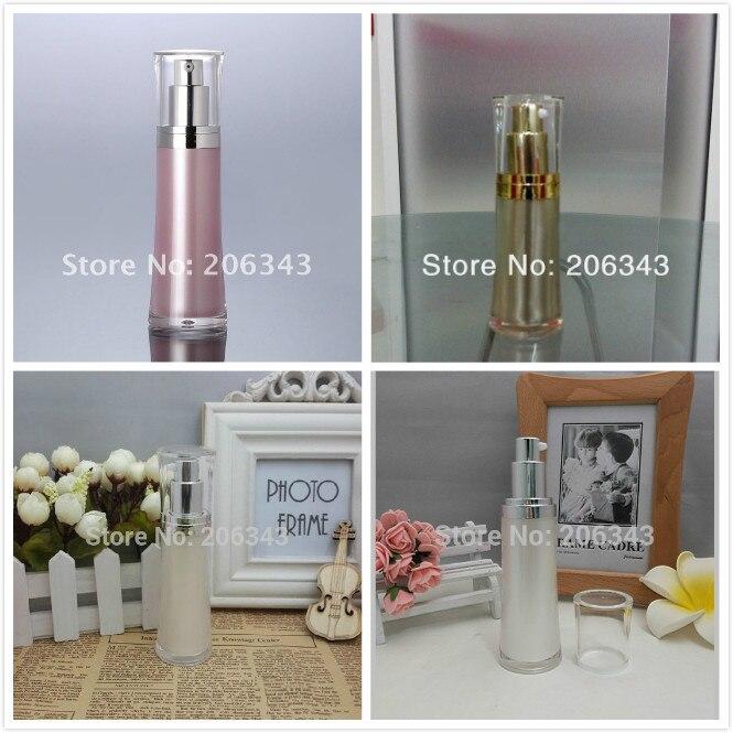 30ml roza / zlato / biserno bel bel pas, akrilna steklenica za serum / losjon / temelj / emulzija kozmetična embalaža plastična steklenica