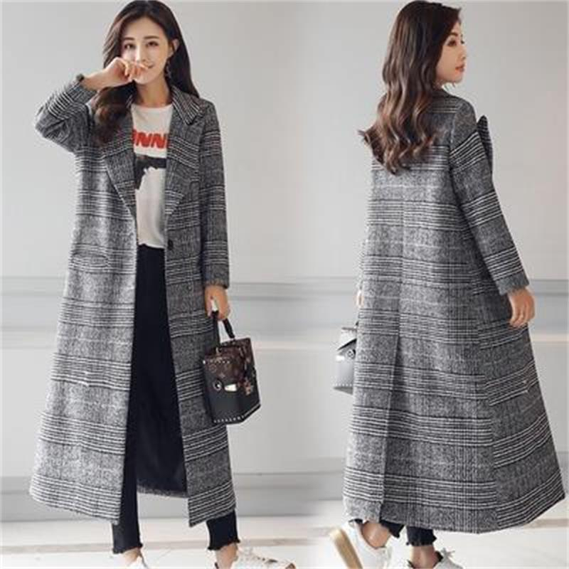 De Mode Manteau Mince Femmes Poitrine 2018 Long Unique Femelle Printemps 1 Hiver Type Automne Nouvelle Laine S0B0tTx