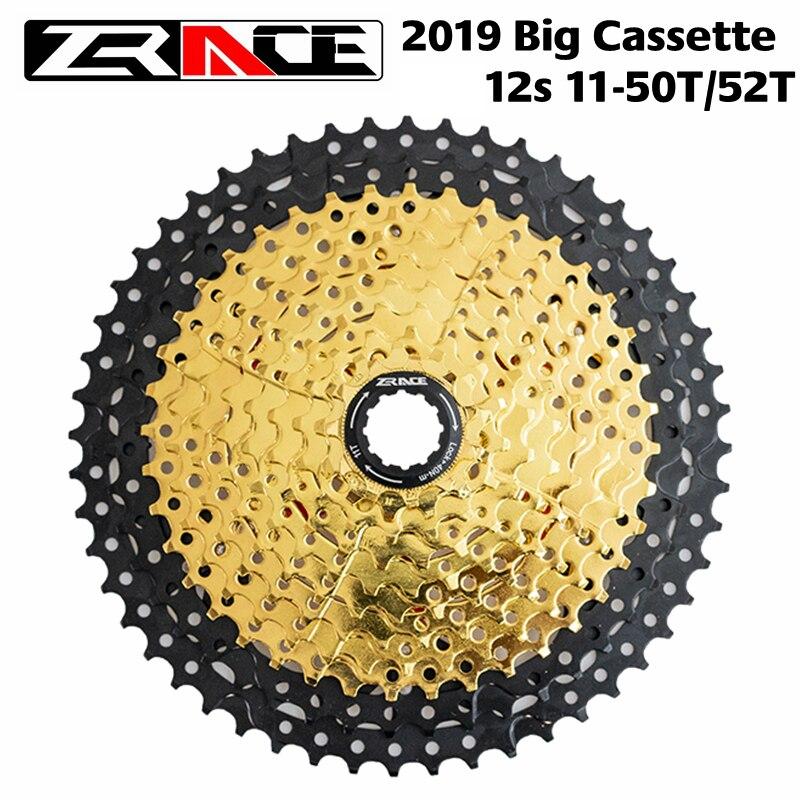 ZRACE Vélo Cassette 12 Vitesse VTT vélo roue libre 11-50 T/11-52 T pour XTR M9100 /SRAM Aigle, SUNRACE Z90 Vtt Cassette