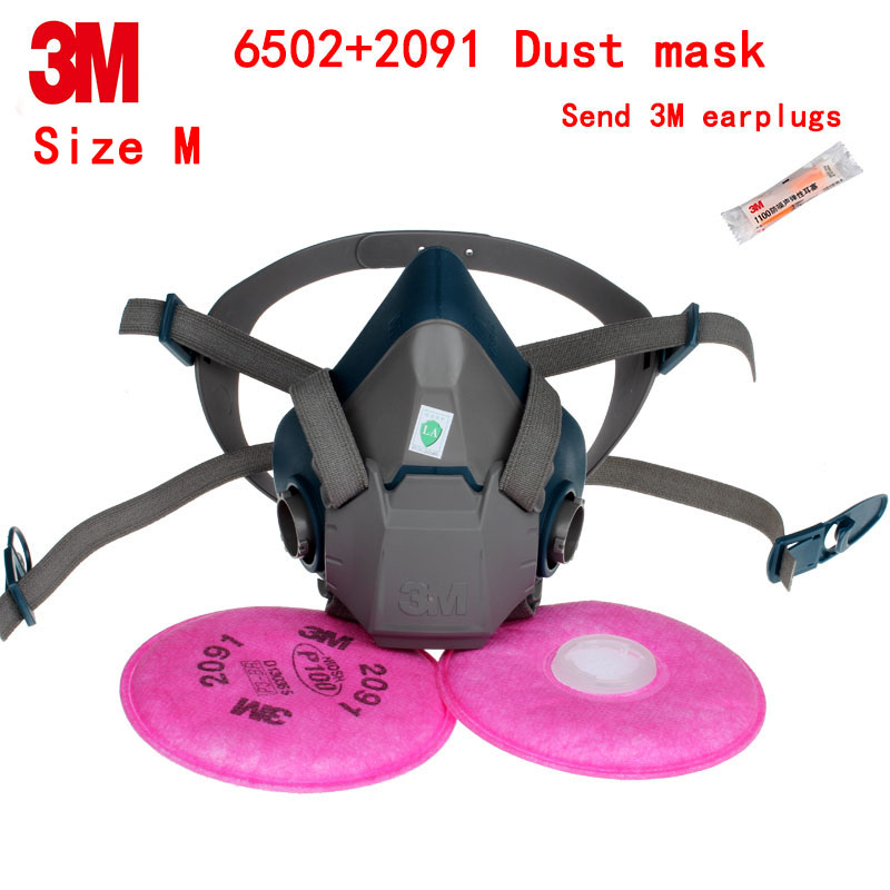 3M 6502+2091 respirator dust mask Genuine security dust mask against dust Welding dust glass fiber respirator mask security labour protective mask equipment bicyle masks against the warm full face mask pirates of the caribbean dust mask fc