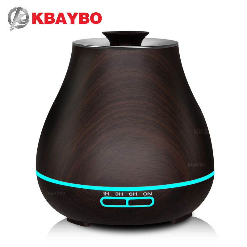 Aroma Essential Oil Diffuser Ultrasonic Air Humidifier with Wood Grain electric LED Lights aroma diffuser for home office цена и фото