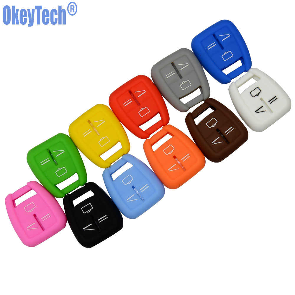 OkeyTech pour Vauxhall Opel Astra Zafira Vectra Tigra Omega Signum Frontera 3 boutons télécommande clé de voiture housse Silicone Fob Shell