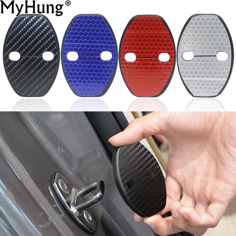 Car Door Lock Cover For Volkswagen VW Tiguan Polo Passat B5 B6 B7 Skoda Octavia A7 Fabia Superb Golf 6 Golf 7 Jetta MK5 MK6 4pcs