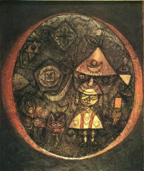 High quality Oil painting Canvas Reproductions Fairy tale of the Dwarf (1925) by Paul Klee  Painting hand painted