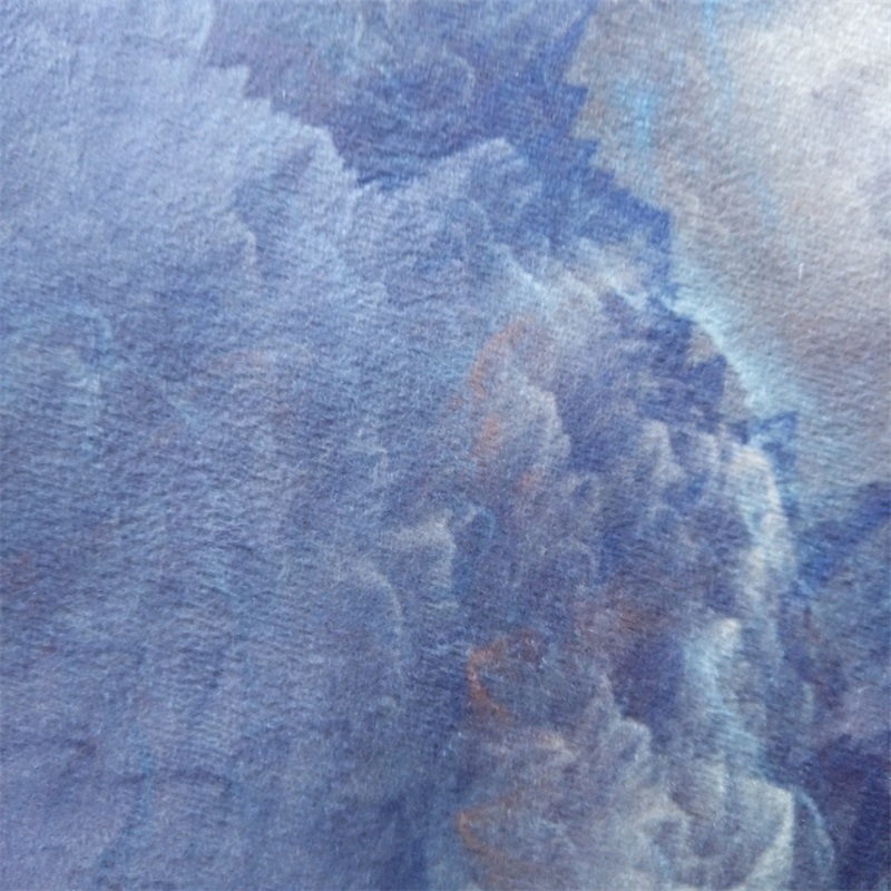 Image 4 - Abstract beautiful clouds blue gold white home bedroom bedside entrance elevator floor mat sofa coffee table anti slip carpet-in Carpet from Home & Garden