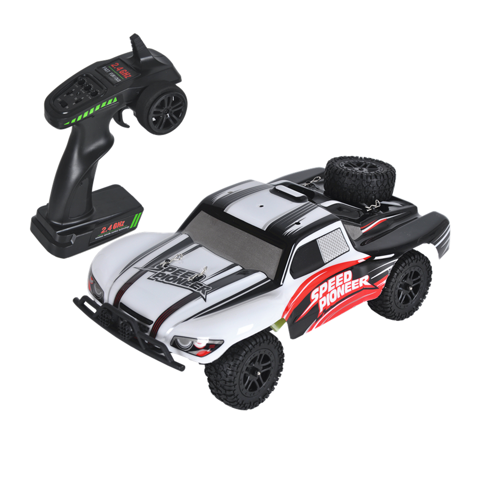 RC Car 4WD High Speed Truck Mini Off-road Car DIY Car Kit 2.4G Radio-Controlled Cars 1/18 on the Remote Control RC Toy For Gift wltoys 12402 rc cars 1 12 4wd remote control drift off road rar high speed bigfoot car short truck radio control racing cars
