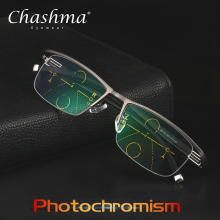 CHASHMA NEW Adjustable Vision Bifocal Transition Sun Photochromic Progressive Reading Glasses Multifocal Eyeglasses