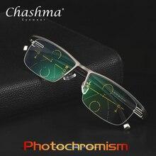 CHASHMA جديد قابل للتعديل الرؤية ثنائية البؤرة الانتقال الشمس اللونية التقدمية نظارات للقراءة نظارات متعددة البؤر